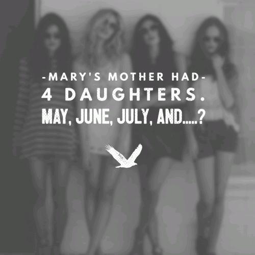 Month Riddles