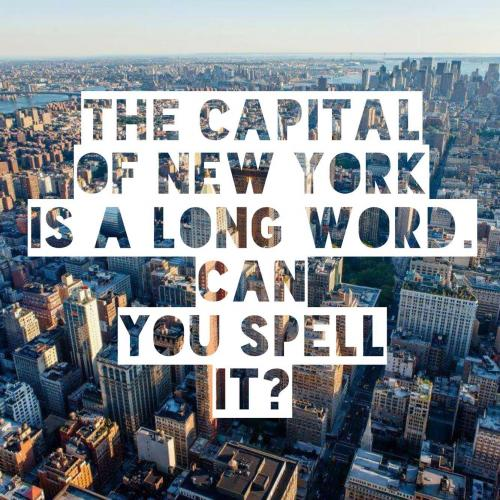 The capital of New York is a long word. Can you spell it?