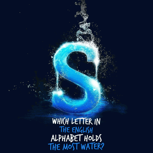 Which letter in the English alphabet holds the most water?