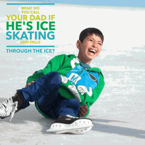 What do you call your dad if he's ice skating and falls through the ice?