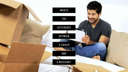 Whats the difference between a couch and a Mexican?