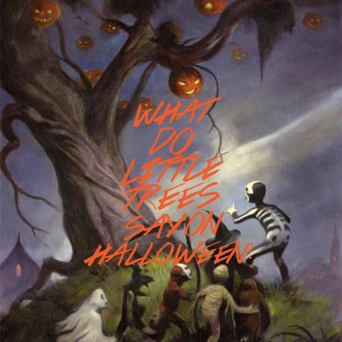 What do little trees say on Halloween?