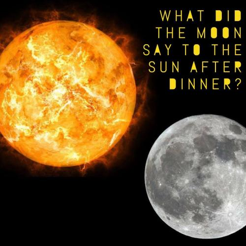 What did the moon say to the sun after dinner?