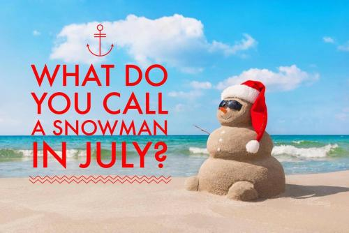 What do you call a snowman in July?