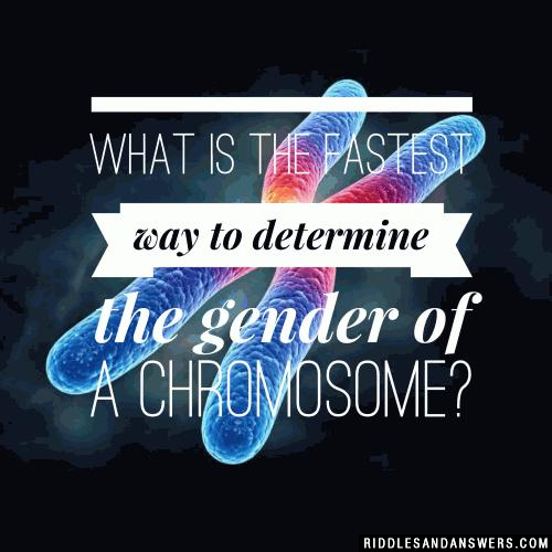 What is the fastest way to determine the gender of a chromosome?