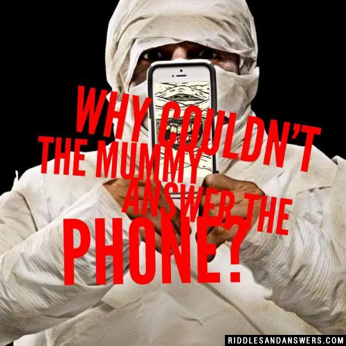 Why couldn't the mummy answer the phone?