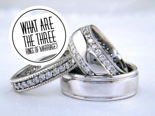 What are the three rings of marriage?