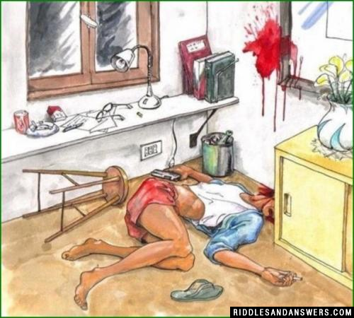 By seeing the image below, you need to figure out if it's a Murder or Suicide?