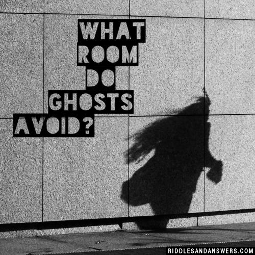 What room do ghosts avoid?