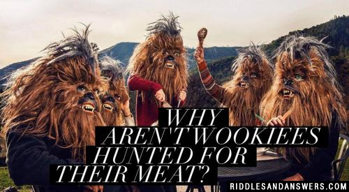 Why aren't Wookiees hunted for their meat?