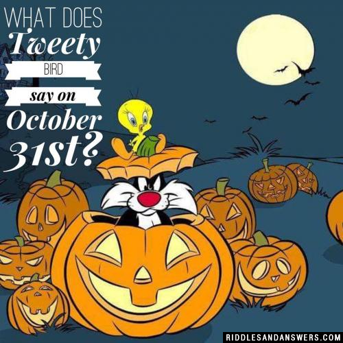 What does Tweety Bird say on October 31st?