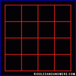 How many squares are in the figure above?