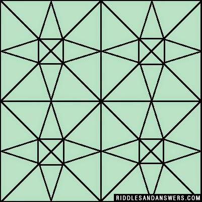 Can you find out the number of triangles present in the given image?