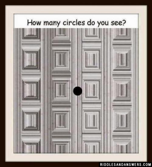 Can you identify the number of circles present in the picture?