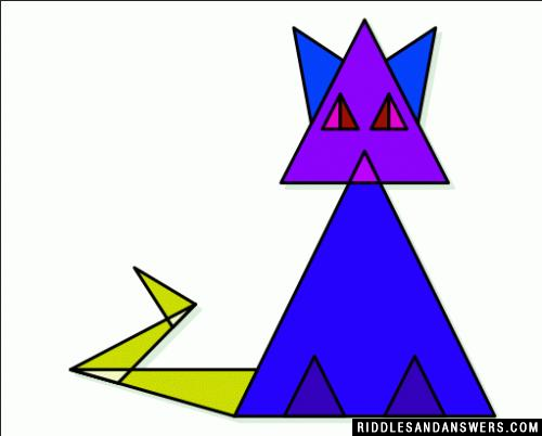 Can you calculate the number of triangles in the given picture?