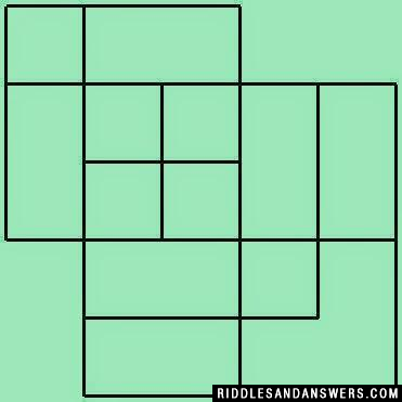 Can you calculate the number of squares that are there in the given picture ?