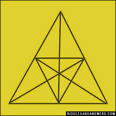 Can you find out the number of triangles in the picture given ?