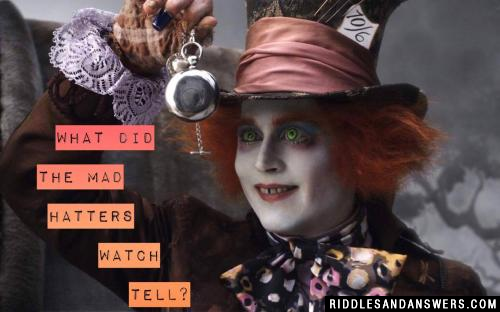What did the Mad Hatters watch tell?