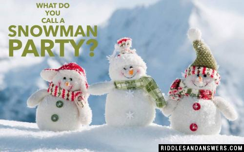 What do you call a snowman party?
