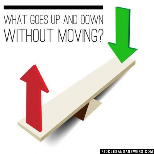 What goes up and down without moving?