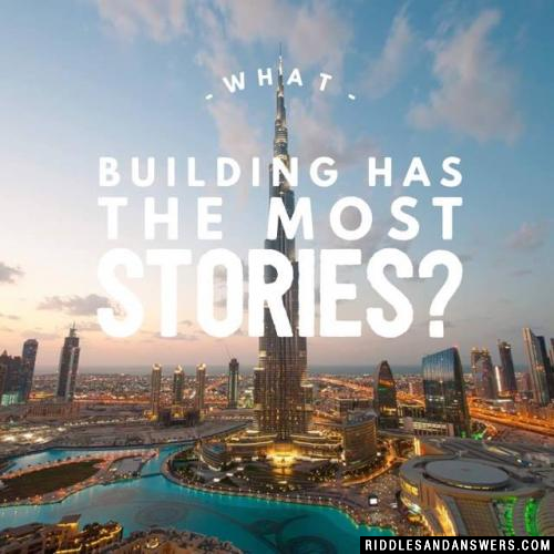 What building has the most stories?