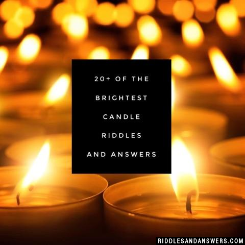 30 candle riddle and answers to solve 2019 puzzles