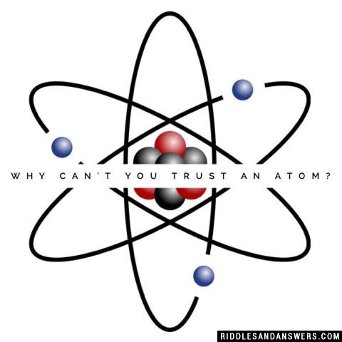 Why can't you trust an atom?