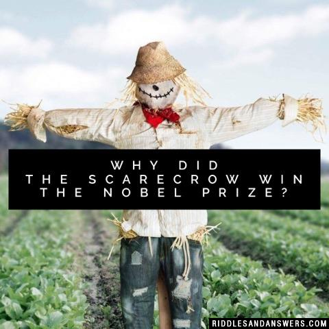Why did the scarecrow win the Nobel Prize?