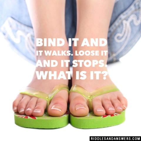 Bind it and it walks. Loose it and it stops. What is it?