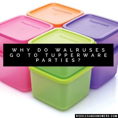 Why do walruses go to Tupperware parties?