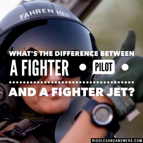 What's the difference between a Fighter Pilot and a Fighter Jet?