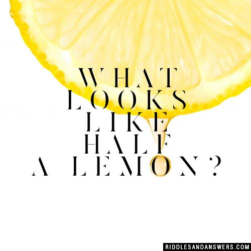 What looks like half a lemon?