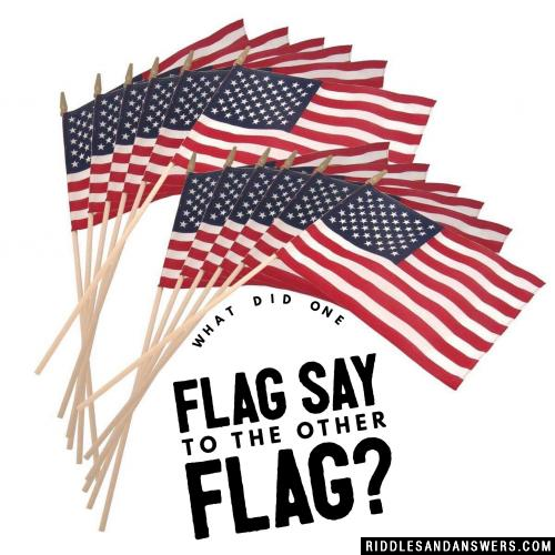 What did one flag say to the other flag?
