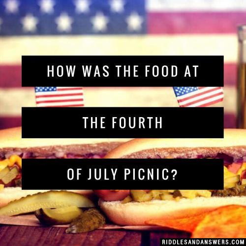 How was the food at the Fourth of July picnic?