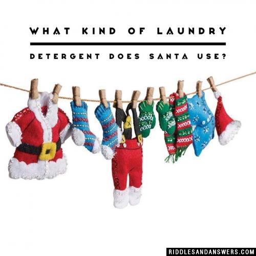 What kind of laundry detergent does Santa use?