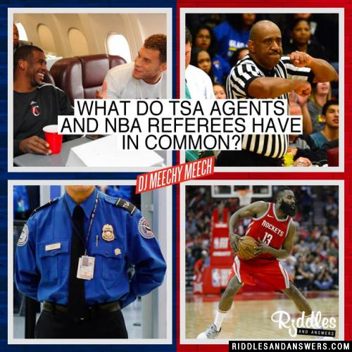 Since the government shutdown what do TSA Agents and NBA referees have in common?