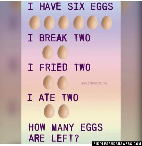 I have six eggs