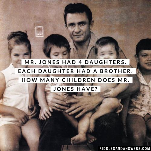 Mr. Jones had 4 daughters.