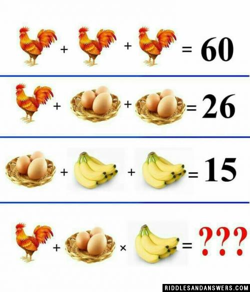 3 Chickens = 60
