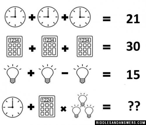 Consider all these factors to solve the clock Calculator bulb puzzle.