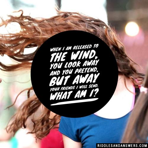 When I am released to the wind, you look away and you pretend, but away your friends I will send.  What am I?