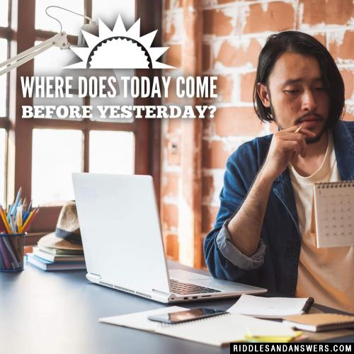 Where does today come before yesterday?