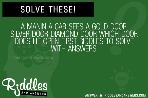 30 A Manin A Car Sees A Gold Door Silver Door Diamond Door Which