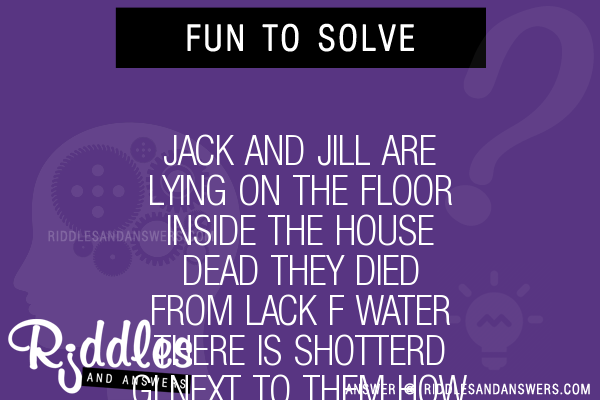 30 jack and jill are lying on the floor inside the house for Jack and jill house