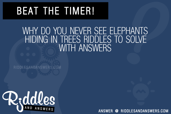 Why do you never see elephants hiding in trees