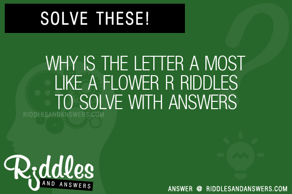 30+ Why Is The Letter A Most Like A Flower R Riddles With Answers